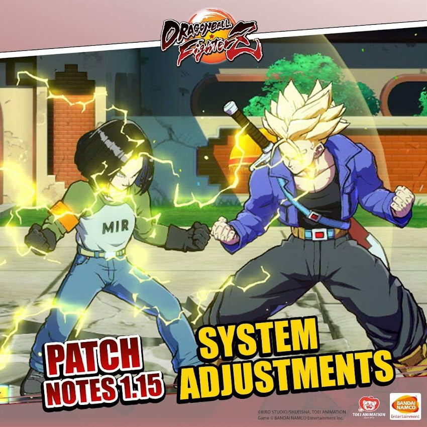 Dragon Ball FighterZ riceve la Patch 1.15