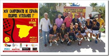 El R.C. Polo de Barcelona masculino y el R.C.T. de Barcelona 1899 femenino nuevos campeones de España de Pádel veteranos por equipos 2016.