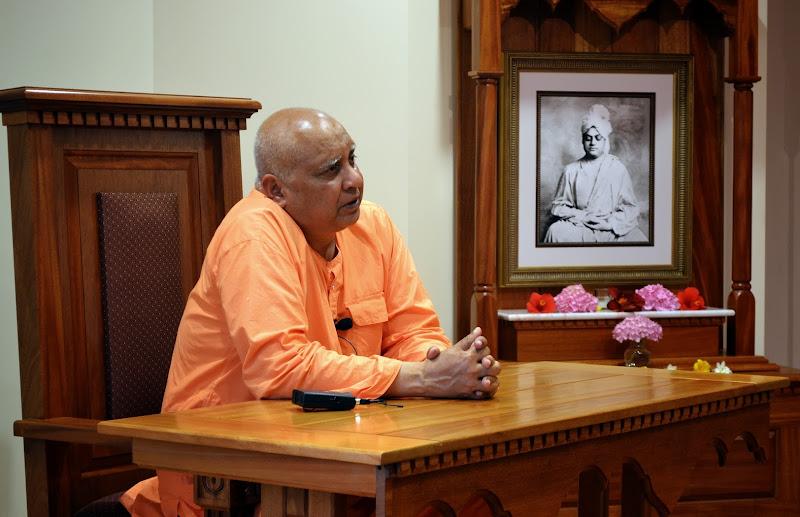 Swami Girishanandaji speaks on June 20