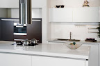 Polished Pure White kitchen worktops