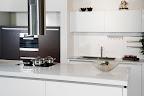 Polished Pure White kitchen worktops
