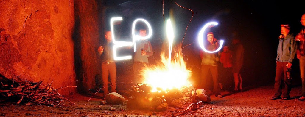 Shelli, creating Epic by the campfire in Alabama Hills with a group of 10 men and women she led on a Mt. Whitney expedition, in partnership with Sierra Mountaineering International. (Photo by an epic guide and friend, Thomas Greene)