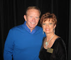Game show host Bob Eubanks meets Grapevine's Duff O'Dell at the fundraiser.
