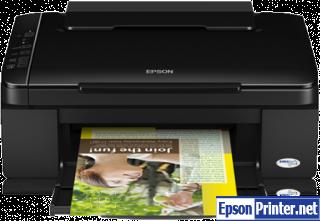How to reset Epson SX110 printer