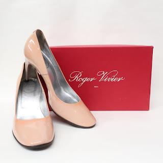 Roger Vivier Patent Blush Pumps