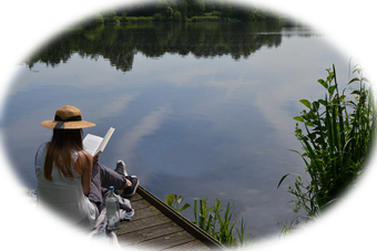Leggere al lago
