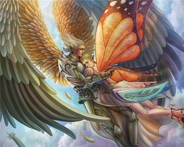 Love Of Angelic Boy And A Fairy, Fairies 4