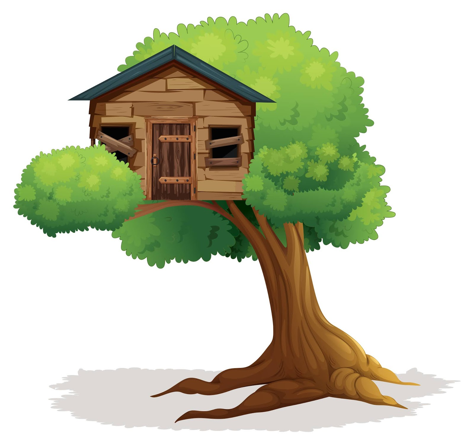 Wooden Treehouse Tree Free Download Vector CDR, AI, EPS and PNG Formats