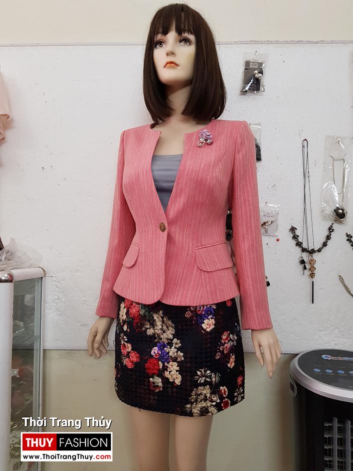 Áo vest nữ dáng ngắn màu hồng V692 thời trang thủy sài gòn