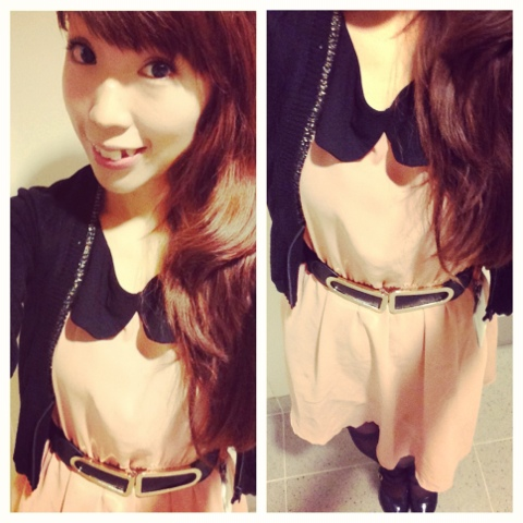 {Outfit of the Day} Oreo Cookie with Strawberry Cream Filling
