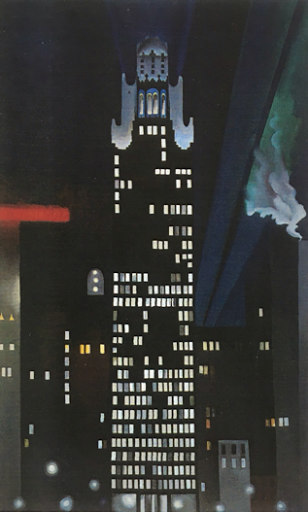 """Radiator Building-Night"" 1927, by Georgia O'Keeffe"