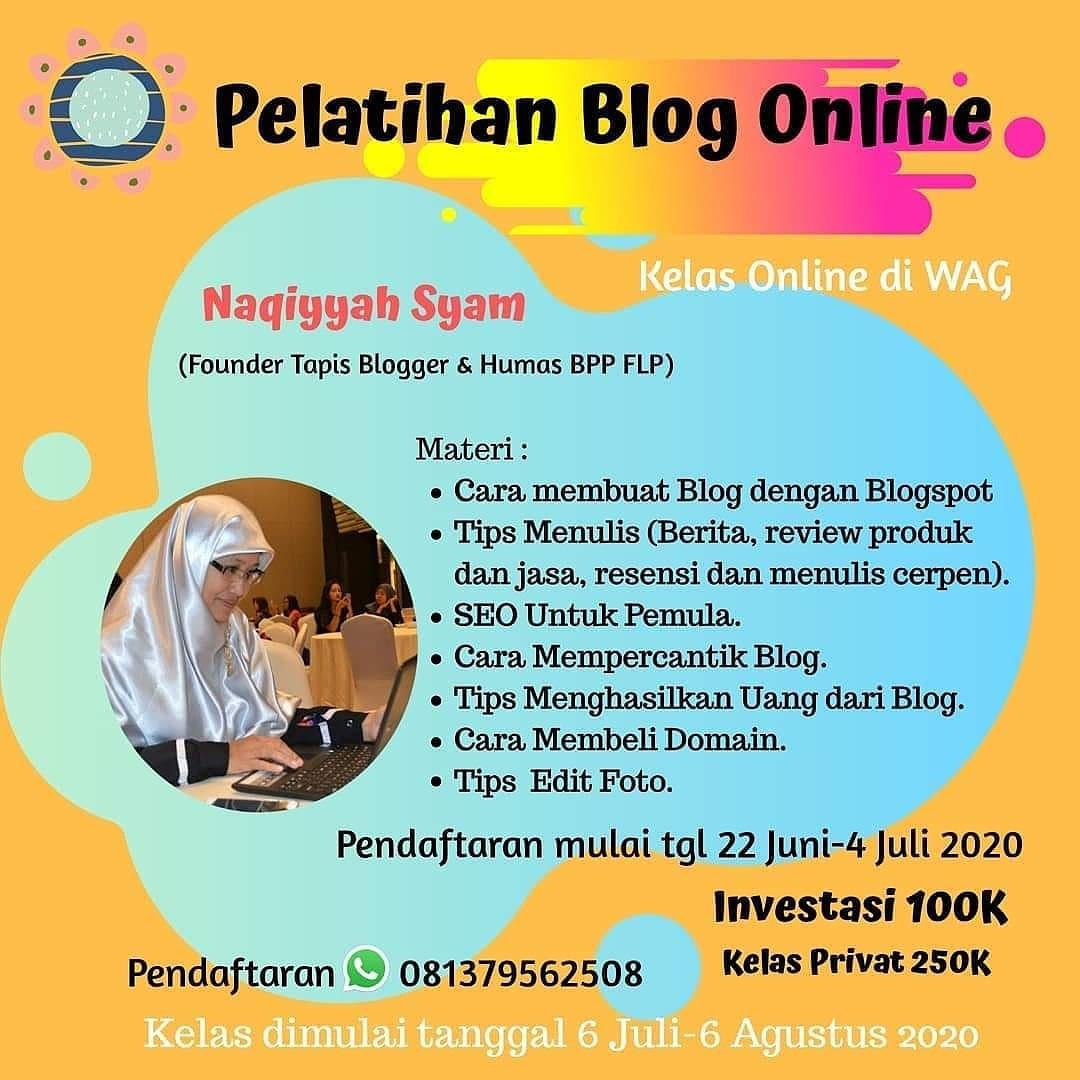 pelatihan blog online