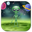 Funny talking alien icon