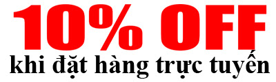 Giảm giá 10% khi đặt hàng trực tuyến