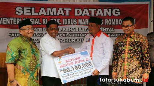 Mensos Idrus Marham Kunjungi Panti Sosial Rehabilitasi Mental Aura Welas Asih Sukabumi