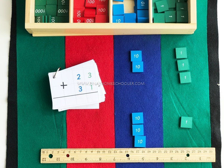 Montessori Stamp Game: Static Addition
