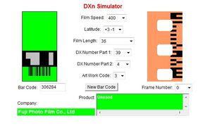 A film adatai a DXn Simulator oldalán