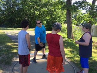Athletes at the discus coached by Dr. John McMahon