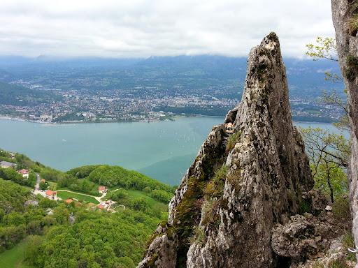 Via ferrata lac du Bourget, Roc de Cornillon, Col du Chat, Savoie.