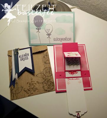 Stampin' Up! - Workshop, SAB, FSK, Balloon Celebration, Timeless Textures, SAB What I love, Perfect Pairings, Banner, Waterfall Card