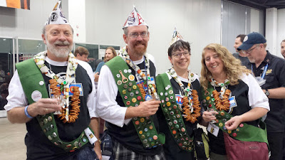 Beer Scouts with their badges