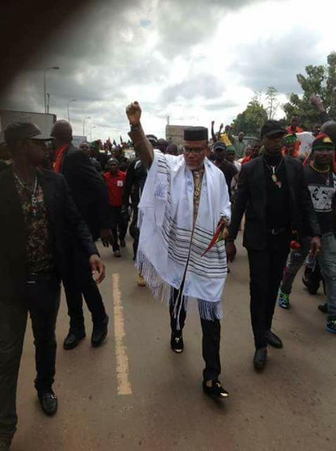 "Nnamdi Kanu is back : ""I Will Not Go On Exile"""
