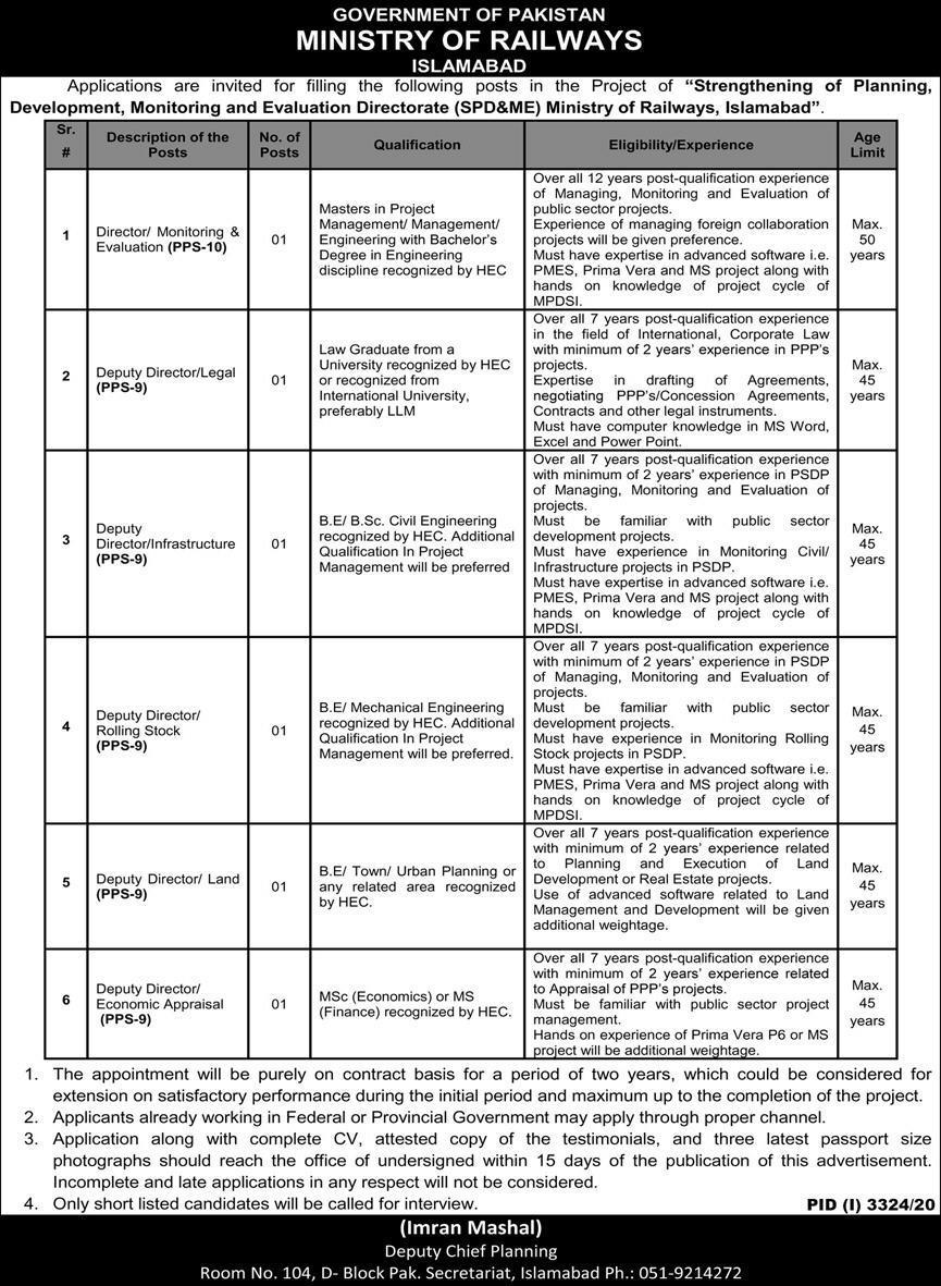 Railway Jobs in Pakistan