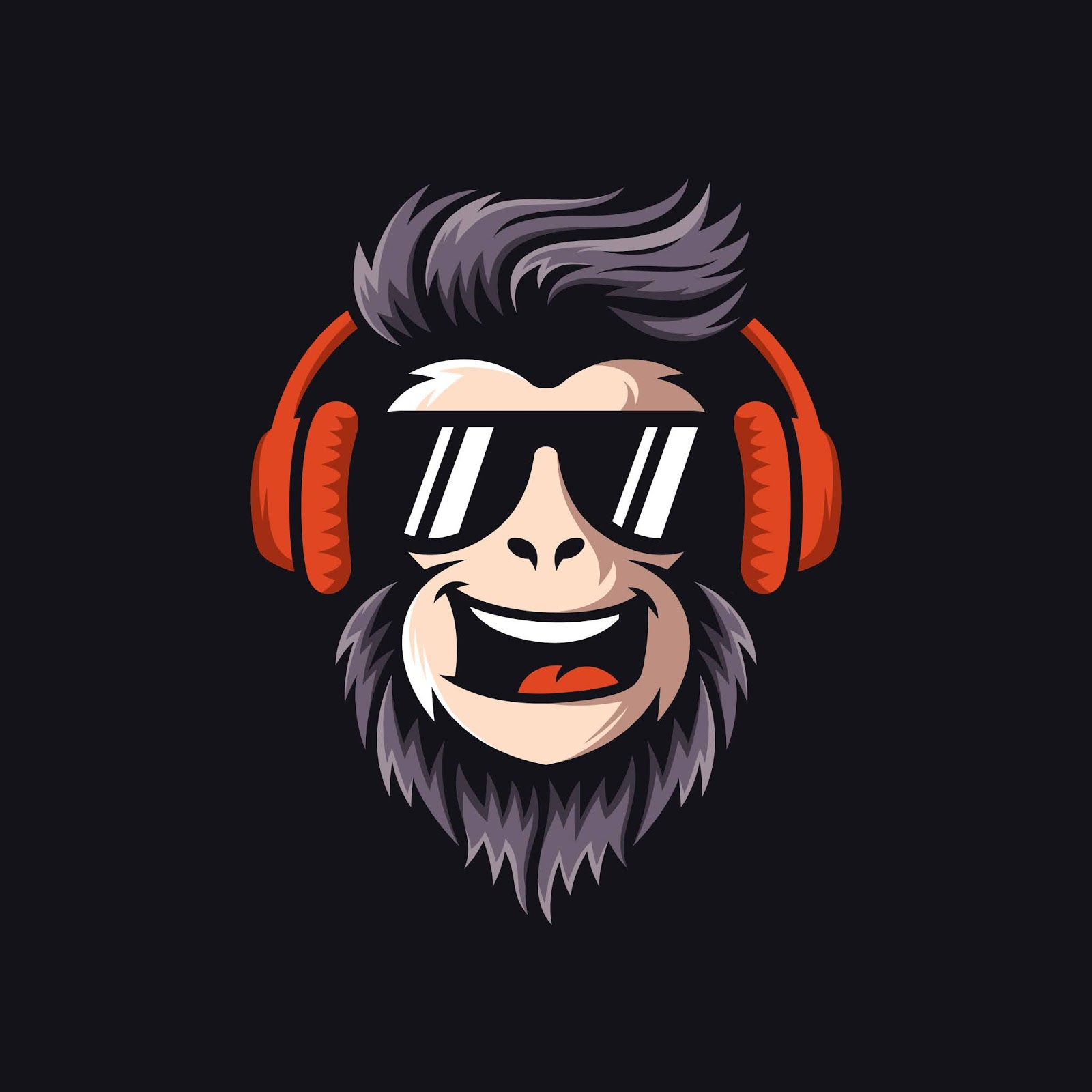 Cool Monkey Logo Design Vector Illustrator Free Download Vector CDR, AI, EPS and PNG Formats