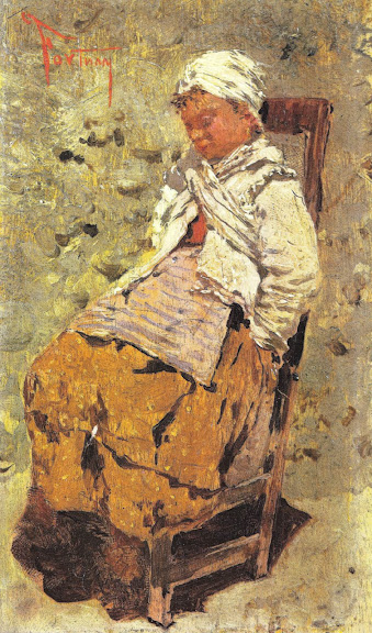Mariano Fortuny - Seated woman