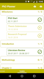 PhD Planner - náhled