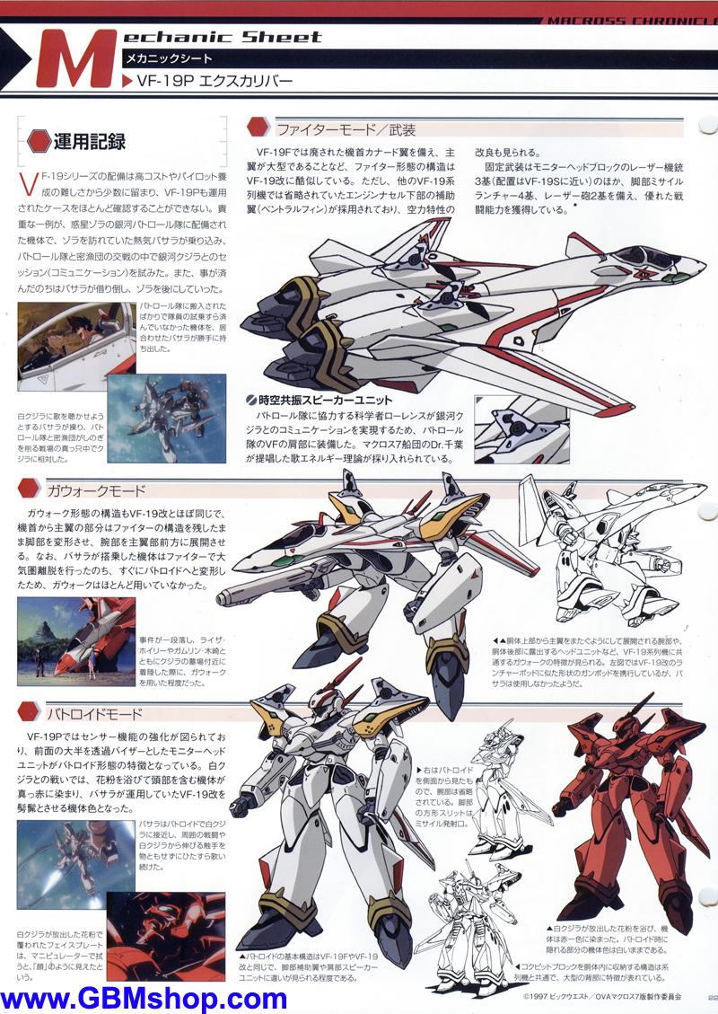 Macross 7 Yamato 1/60 VF-19P Excalibur Planet Zora Patrol Corps Mechanic & Concept Macross Chronicle