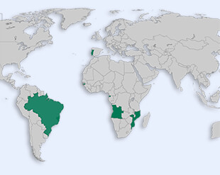 Community of Portuguese Language Countries location map
