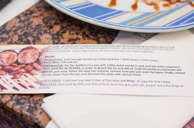 photo of a recipe card