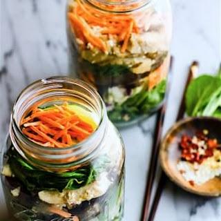Easy Oriental Chicken Bok Choy Mason Jar Salads {Gluten Free, Paleo}