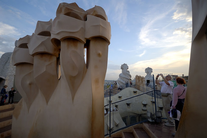 Casa Mila by Antoni Gaudi. On the Roof. Barcelona