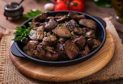 órgãos de animais fígado coração alimentos baratos e saudáveis