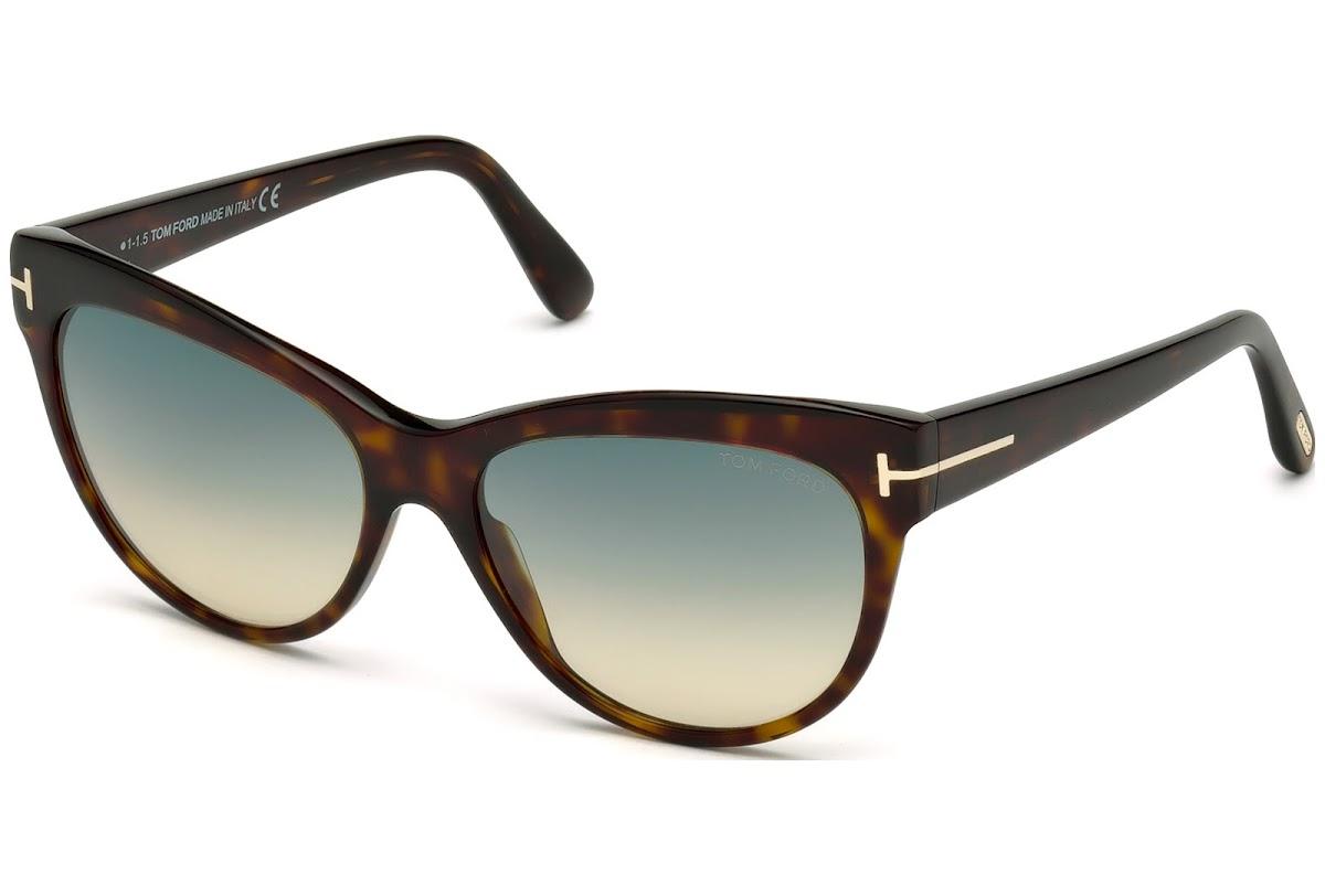 2c050a6f74 Sunglasses Tom Ford Lily FT0430 C56 52P (dark havana   gradient green)