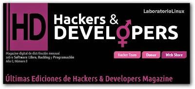 """Inicio     Aplicaciones     Entrevistas     Ubuntu     Steam     Trucos Blogger     Revistas     Wallpapers  Revistas. Hackers & Developers. Publicado un nuevo número """"Horse"""""""