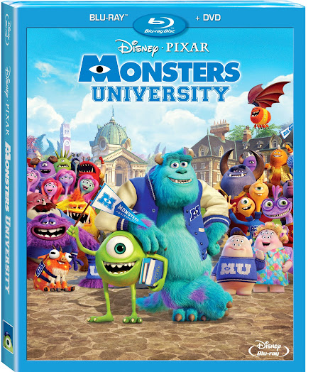 Monsters University on Blu-ray Combo Pack October 29th, 2013 #MonstersU