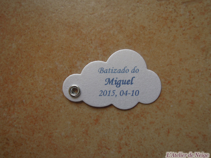 202 - Etiquettes à dragées Baptême  Miguel 4 octobre 2015