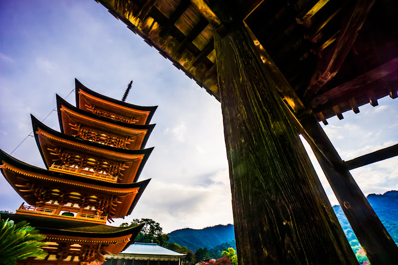 宮島 豊国神社(千畳閣) 五重塔1