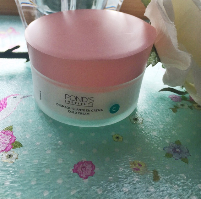 Ponds Cold Cream and Flowers