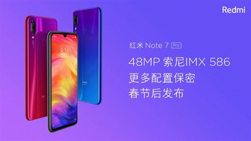 Redmi Note7 Pro จะมาพร้อมกับเซนเซอร์กล้อง Sony IMX586 48MP นี่สินะเหตุผลที่ Redmi Note7 ใส่แค่ Samsung GM1