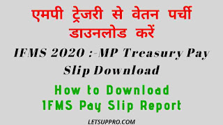 MP Treasury IFMS pay slip