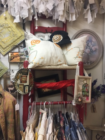 GypsyFarmGirl and Rooster Tails booth at Uniques and Antiques