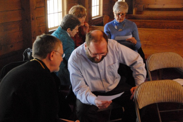 Faithful read and discuss the lives of the saints in small groups.
