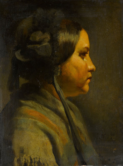 Matthijs Maris - Study of the head of a young woman in profile - Google Art Project.