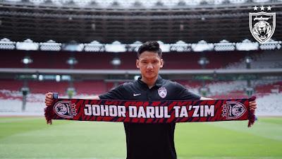 JDT Tandatangan Bintang Muda Indonesia, Syahrian Abimanyu.