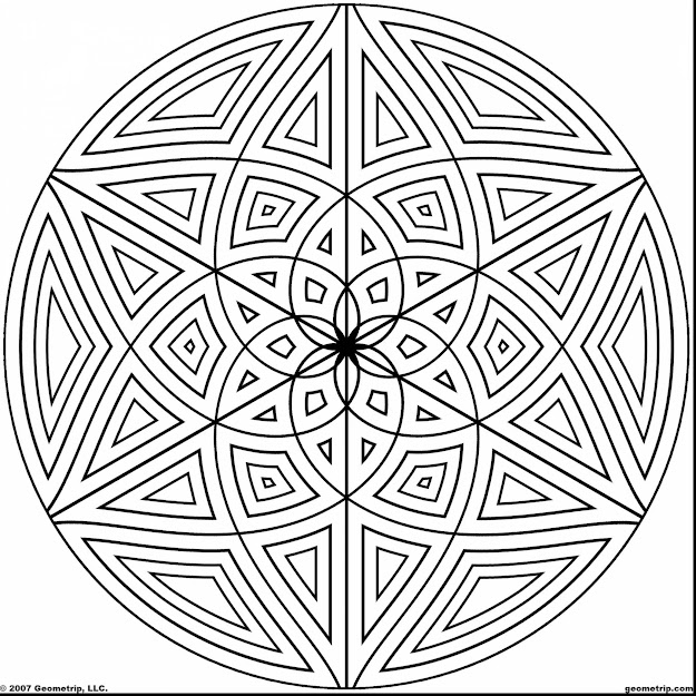 Awesome Coloring Design Page Geometric Patterns With Geometric Coloring  Pages And Geometric Coloring Pages