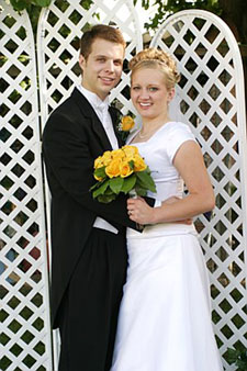 Photo of Traci and Brian on August 20, 2005 in American Fork, UT. Photo courtesy of Brian Brown.